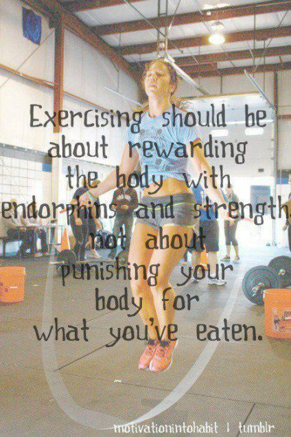 Exercise is not punishment