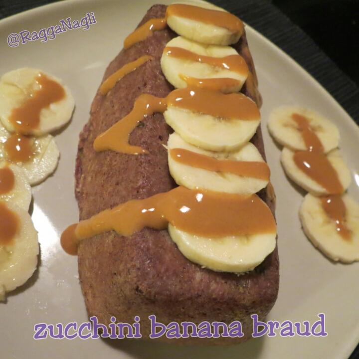 Zucchini-banana-brauð