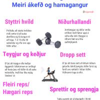 Heimaæfingar- meiri ákefð